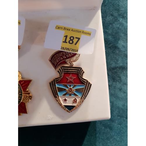 187 - Soviet military badge...
