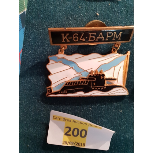 200 - Russian Navy Badge...