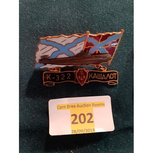 202 - Russian Navy Badge...