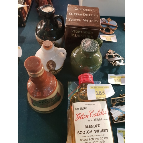183 - 6 sealed Collectable miniature whiskey & Liqueur...