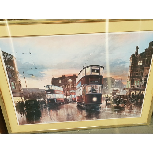 322 - Don Brecton Signed Tram print...