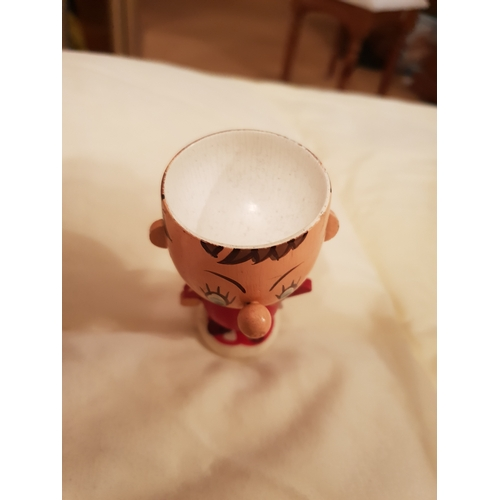 7 - Vintage Noddy Egg Cup with bell cap...