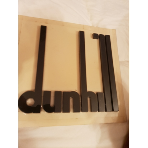 3 - Large Dunhill display letters...