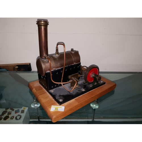 95 - Hand built large steam engine...