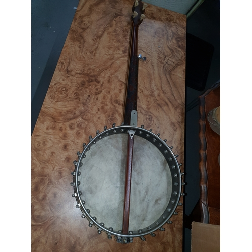 14 - 1920's 5 string Banjo J H Langham...