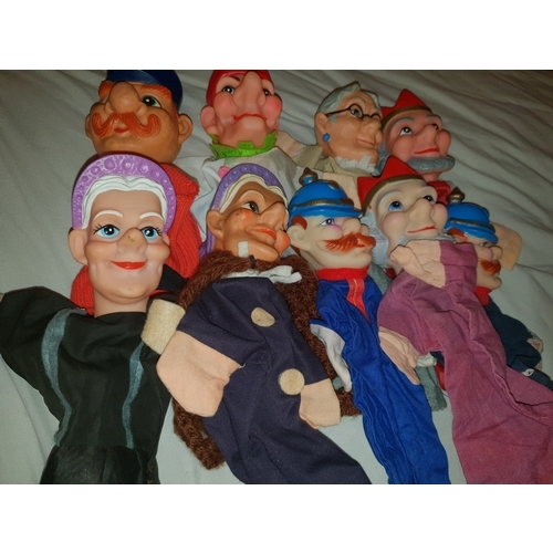 29 - Vintage 1960's hand puppets...