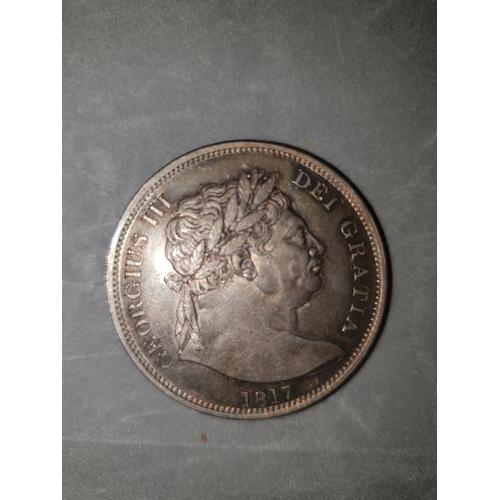 230 - 1817 George III 3rd 'Bullhead' Half Crown halfcrown...