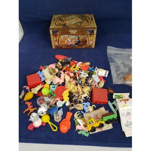 3 - box 60's 70's plastic toys...