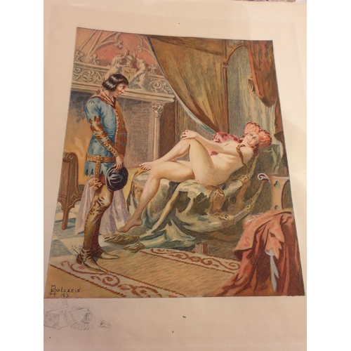 39 - 8 x Erotic French etchings Remake...