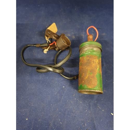 9 - Vintage life buoy light...