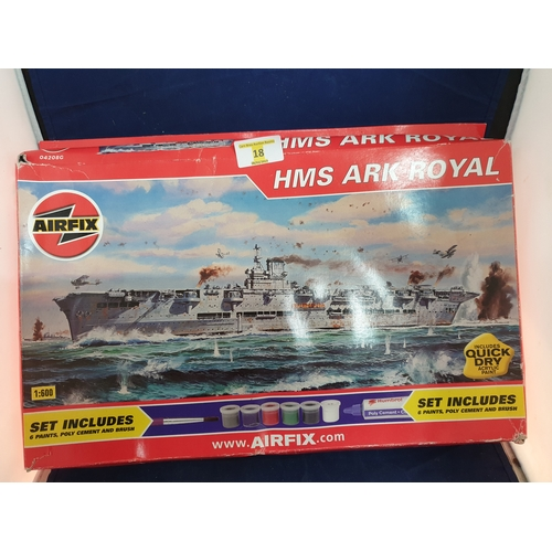 18 - Ark Royal model kit...