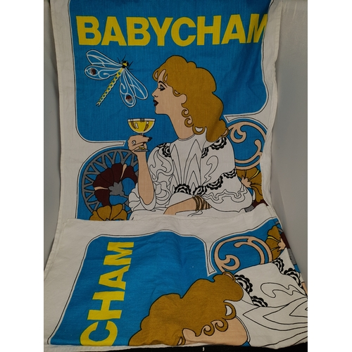 15 - Two Baby Cham Tea towels...