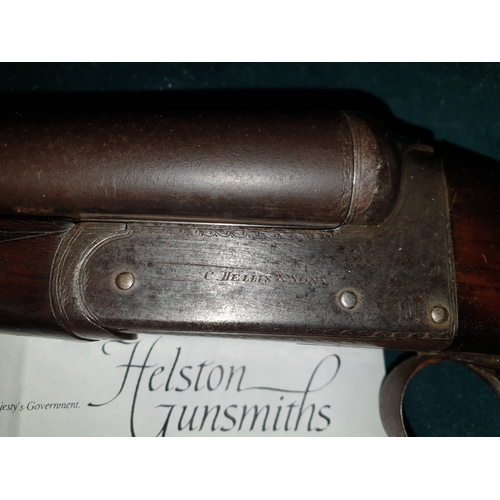 46A - Registered deactivated double barrel shotgun with Certificates. C Hellis & Sons...