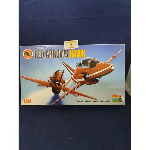 2 - Airfix Red Arrows Hawk 1:72 Complete unstarted...
