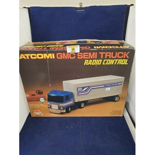18 - Atcomi Gmc vintage Rc Semi Truck...