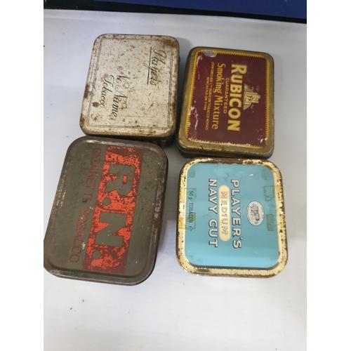 40 - 4 tobacco tins...
