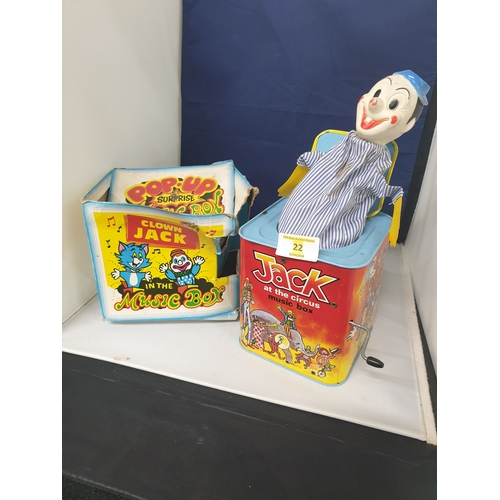 22 - Tin Jack in box boxed...