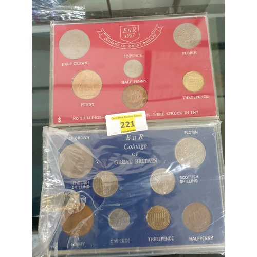 209 - 2 x coin sets...