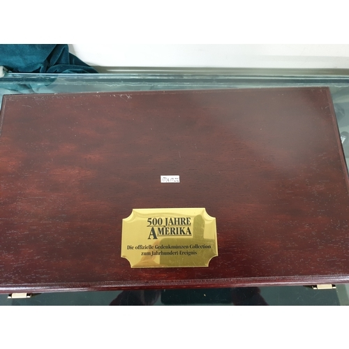 209A - 22 x 925 silver Cook Island $50 dollar coins in mounting box...