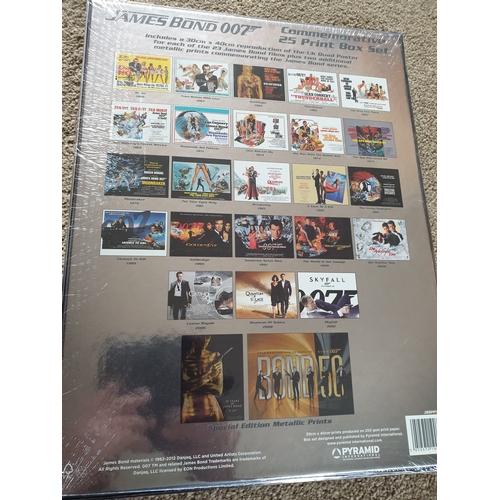 45 - JAMES BOND 007 Limited Edition Commemorative 25 Art Print Box Set sealed...
