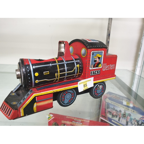 85 - 1960s Japanese tin plate train...