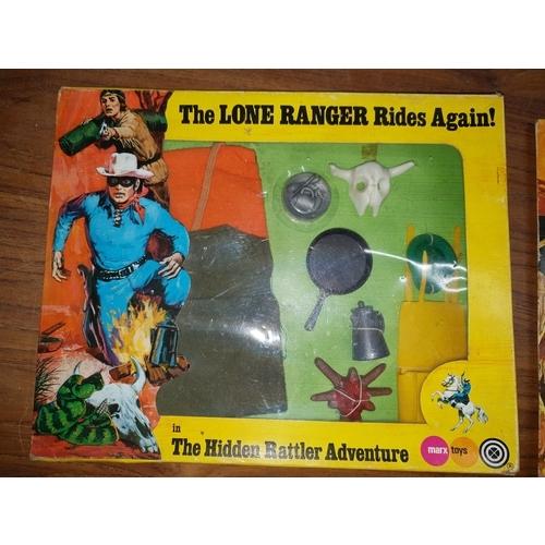 53 - Marx Lone Ranger Sealed Hidden Rattler Set...