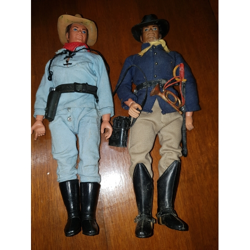 57 - MARX TOYS - THE LONE RANGER RIDES AGAIN - THE LOST CAVALRY PATROL AND LONE RANGER...