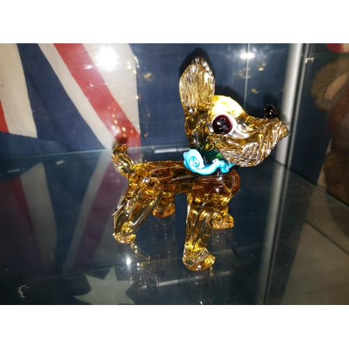 4 - Rare c1950s large Murano vasaline glass Scotty Dog...