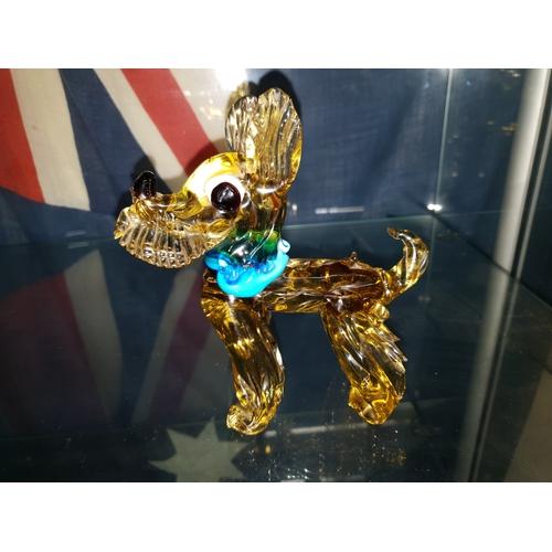 4 - Rare c1950s large Murano vasaline glass Scotty Dog