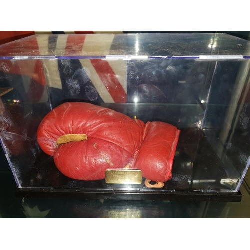 11 - Signed Freddie Mills glove, Frederick Percival Mills (26 June 1919 – 25 July 1965) was an English bo...