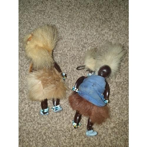 29 - Two Zulu afro dolls...