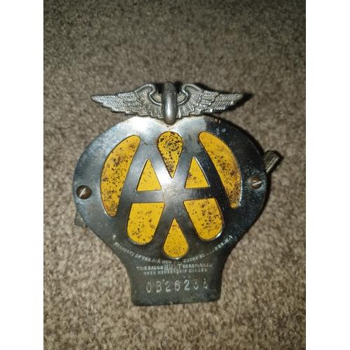 15 - Vintage AA Badge...