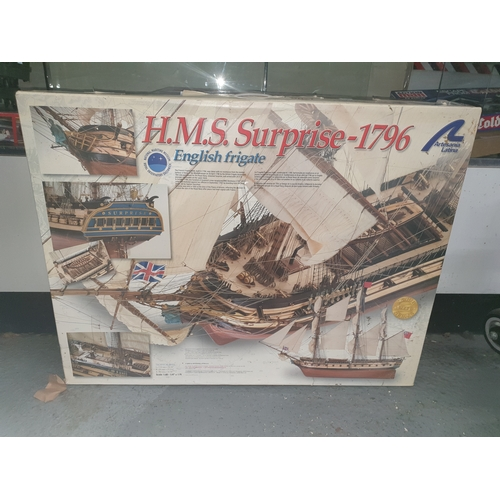 25 - Artesania Latina 1/48 HMS Surprise, Water Automobiles 22910 Unstarted Kit...