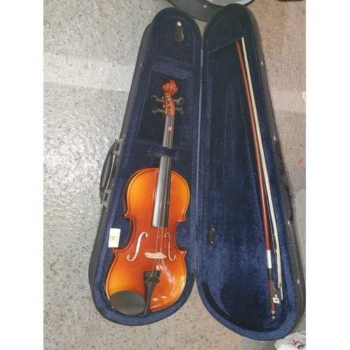 21 - Inter Music Student Violin half size 12 inch with Bow & Case...