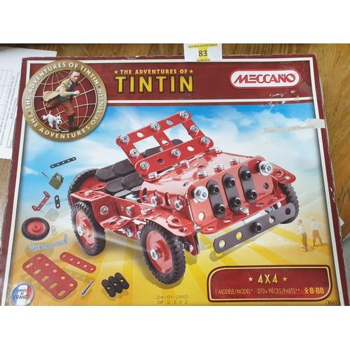 83 - Unopened Tin Tin Meccano...