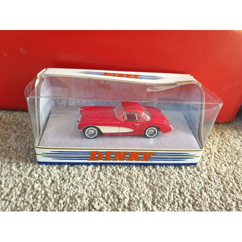135 - Matchbox Dinky DY023A 1956 Chevy Corvette Hardtop Red 1:43