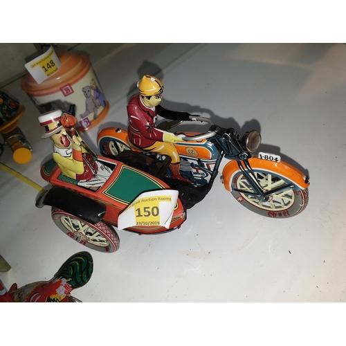 150 - Tinplate Clockwork bike