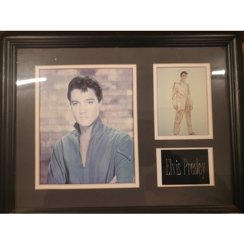 13 - Elvis photos framed set...
