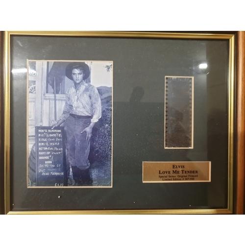 15 - Elvis love me tender ltd ed Film cell photo...