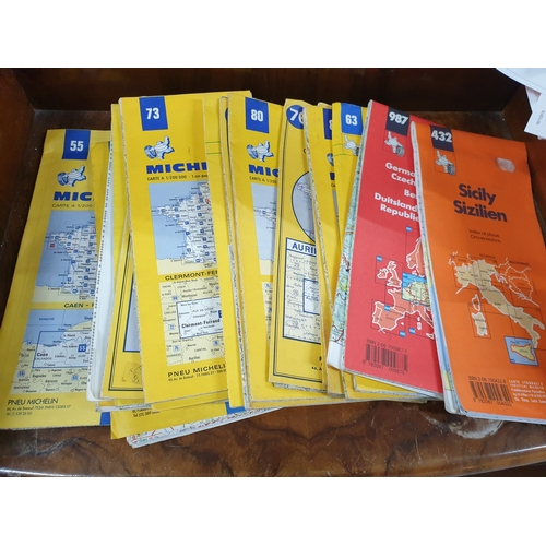 17 - Collection of Vintage Michelin French Road Maps...
