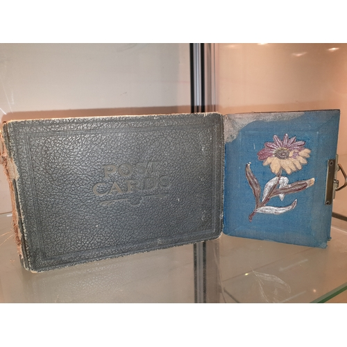 28 - Two vintage post card albums...