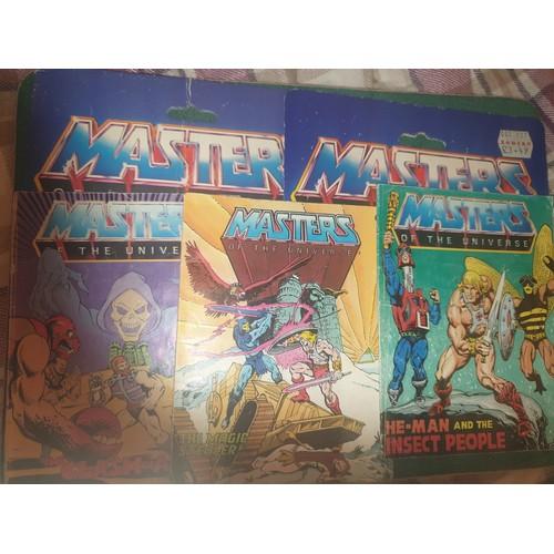34 - Heman cartoon books & headers 1980s...