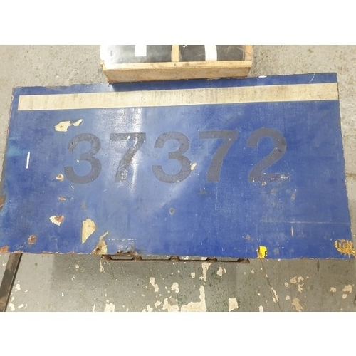 24A - RAILWAYANA CLASS 37 DIESEL LOCO NUMBER PLATE, X Baby Delta Project original Panel...