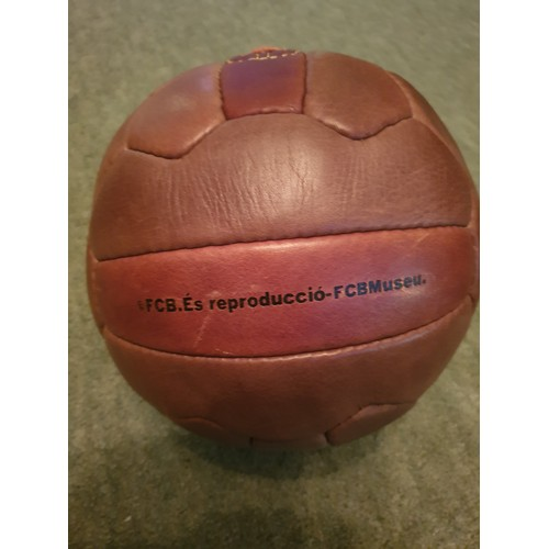 5A - FC BARCELONA VINTAGE 1957 LEATHER FOOTBALL...
