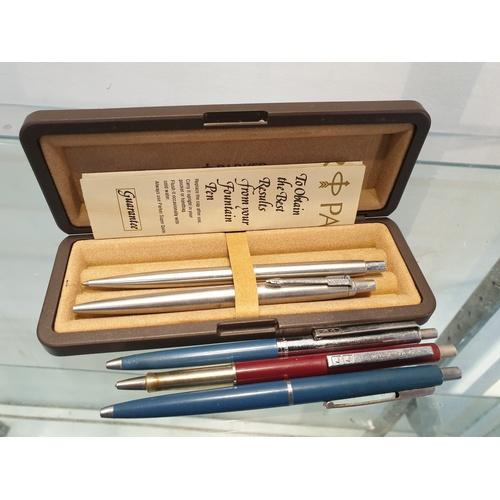 3 - Parker & paper mate pens...
