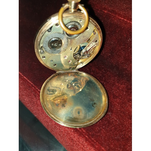 262 - 14k Gold Cuive pocket watch...