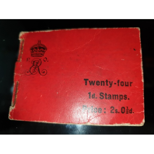 34 - Complete Book of 24 GB KEVII 1d Red One Penny King Edward VII Mint...