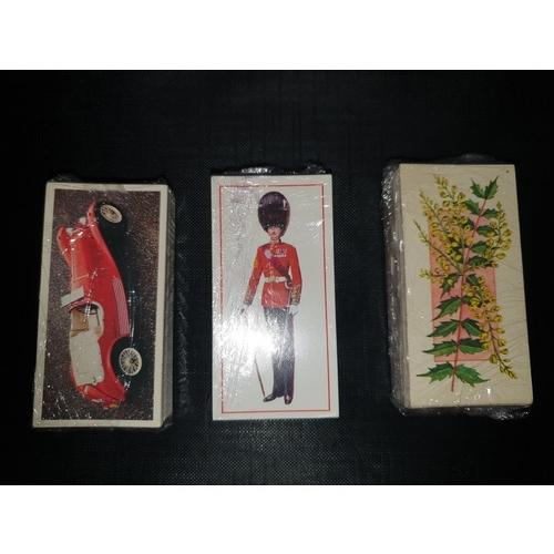 18A - 3 x Craven Black Cat VINTAGE CARS Carreras Ltd Cigarette Cards 1976 (50). Military Uniform 1976 (50)...