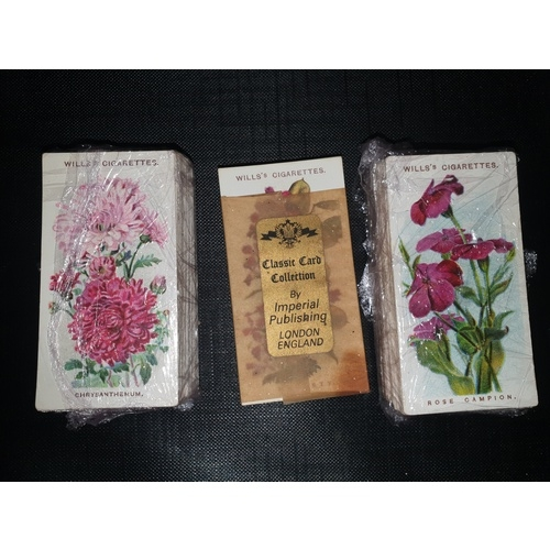 20 - 3 x Cigarette Cards - Wills - Old English Garden Flowers (50 Cards) Series 1 1910, Series 2 1913 and...
