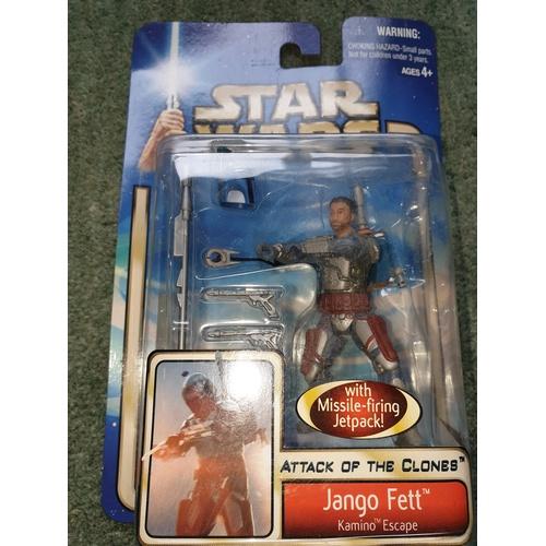 134 - New & Sealed! Star Wars Attack of the Clones Kamino Escape Jango Fett '02 #13...